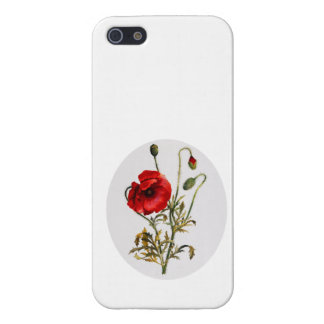 Poppy Watercolor iPhone 5/5S Case