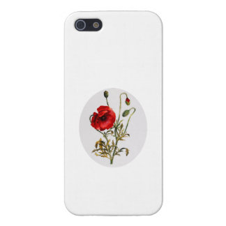 Poppy Watercolor iPhone 5/5S Covers