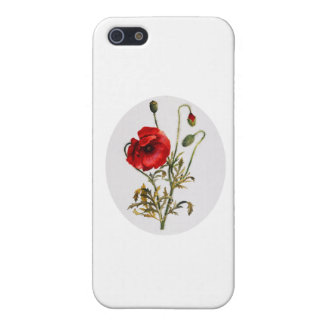 Poppy Watercolor iPhone 5 Cases