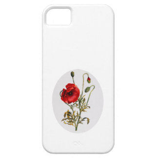 Poppy Watercolor iPhone 5 Cover