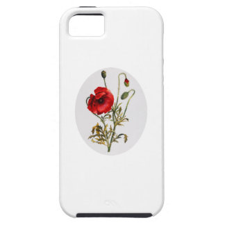 Poppy Watercolor iPhone 5 Covers