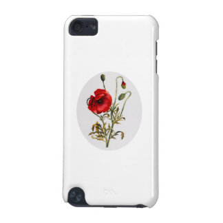 Poppy Watercolor iPod Touch 5G Case