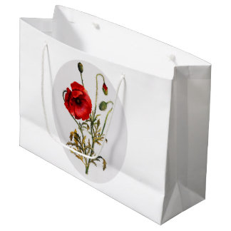 Poppy Watercolor Large Gift Bag