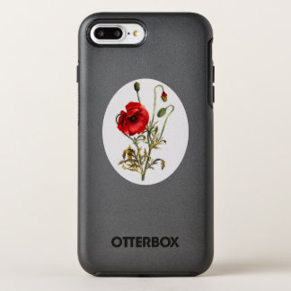 Poppy Watercolor OtterBox Symmetry iPhone 8 Plus/7 Plus Case