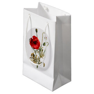 Poppy Watercolor Small Gift Bag
