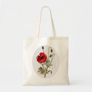 Poppy Watercolor Tote Bag