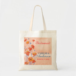 Poppy Wedding Bridesmaids Gift Tote Bag