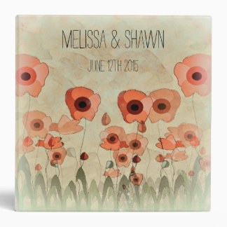 Poppy Wedding Photo Album Binder