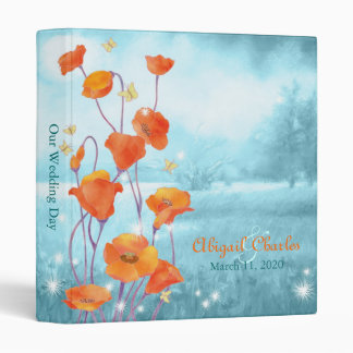 Poppy Wedding Photo Book Albums 3 Ring Binder
