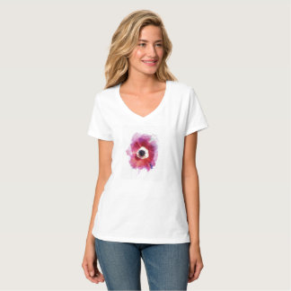 Poppy Women's Hanes Nano V-Neck T-Shirt #2