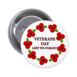 Poppy wreath - Badge 2 Inch Round Button