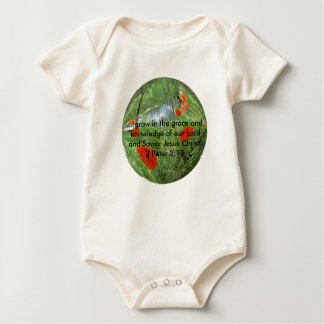 poppyball, ...grow in the grace and knowledge o... baby bodysuit