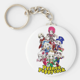 Poppycock Party Keychain