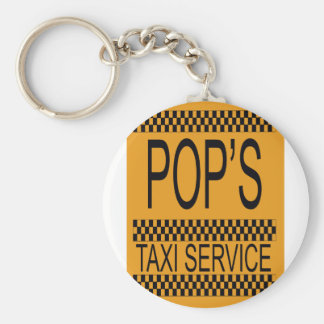 Pop's Taxi Service Basic Round Button Keychain