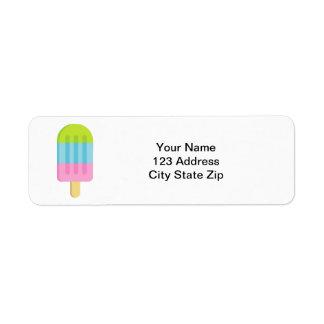 Popsicle ice lolly custom return address labels