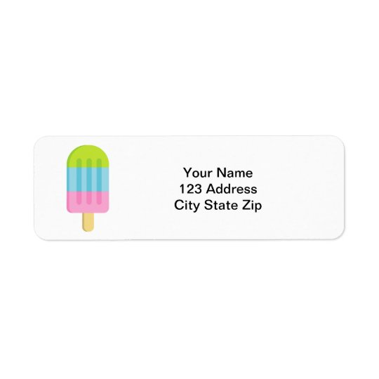 Popsicle ice lolly custom return address labels