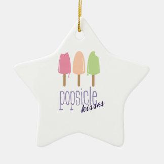 Popsicle Kisses Ceramic Ornament