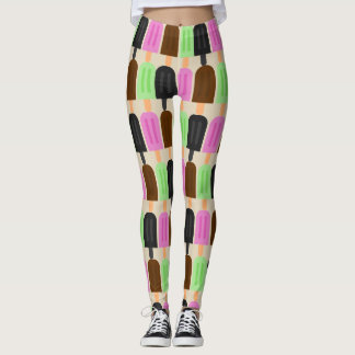 Popsicle Pattern Summer Leggings