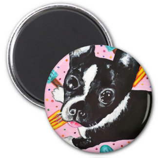 Popsicle Pup 2 Inch Round Magnet