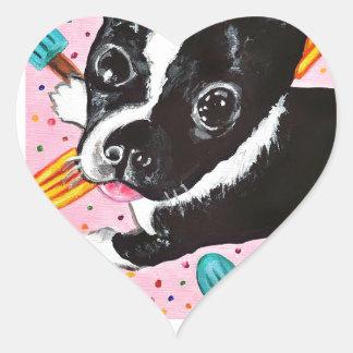 Popsicle Pup Heart Sticker