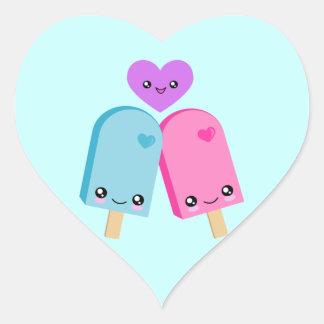 Popsicle Sweet Kawaii Heart Stickers