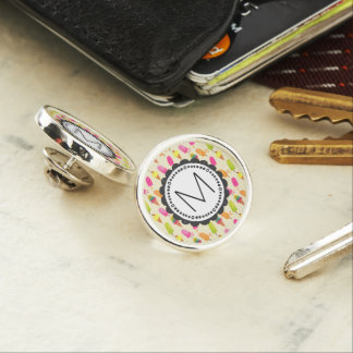 Popsicles and Ice Cream Cones Custom Monogram Lapel Pin