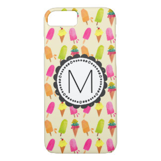Popsicles and Ice Cream Personalized Monogram iPhone 8/7 Case