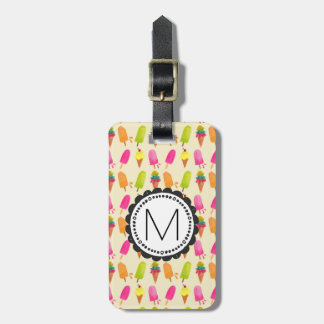 Popsicles and Ice Cream Personalized Monogram Luggage Tag