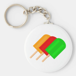 Popsicles Basic Round Button Keychain