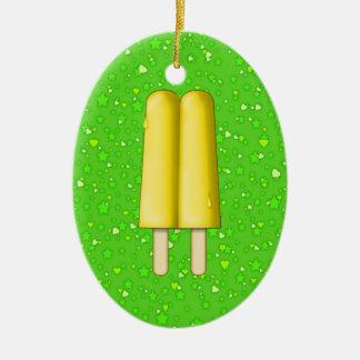 Popsicles - SRF Ceramic Oval Ornament