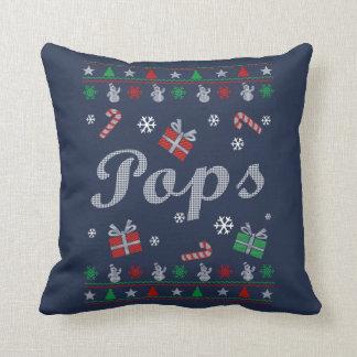 Pops's Christmas Throw Pillow