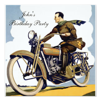 Popular Art Deco motorbike Card