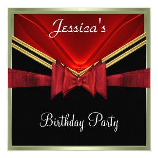 Popular Black Red Party Invitation