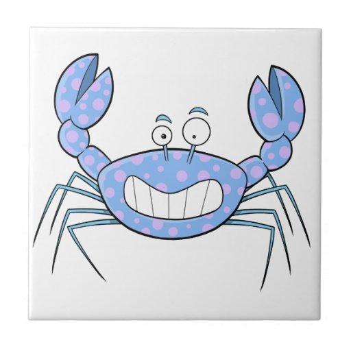 Popular Blue Crabby Crab Unique Cute Gift Present Tile