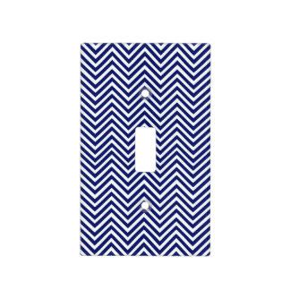 Popular Blue Zigzag Chevron Retro Vintage Design Light Switch Cover