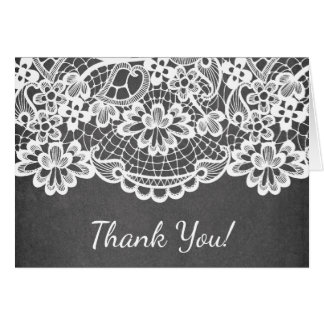 Popular Chalkboard Lace Thank You Note Card