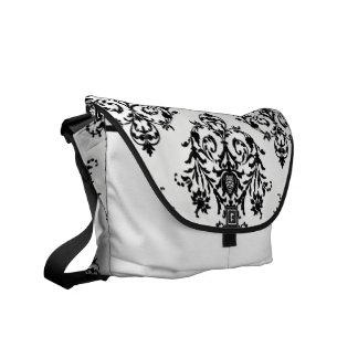 Popular Damasl Black and White Rickshaw Bag Messenger Bag