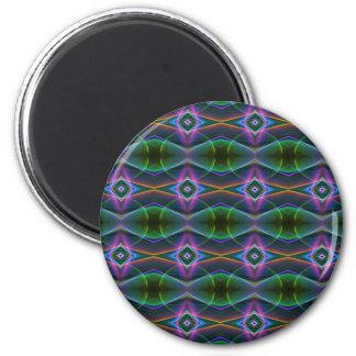 Popular Lavender Green Neon Pattern 2 Inch Round Magnet