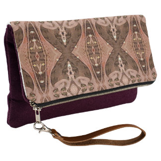 Popular Peach Brown Color Combo Pattern Clutch