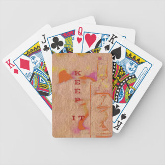 """Popular Peach Trending """"Keep it"""" Slang Bicycle Playing Cards"""