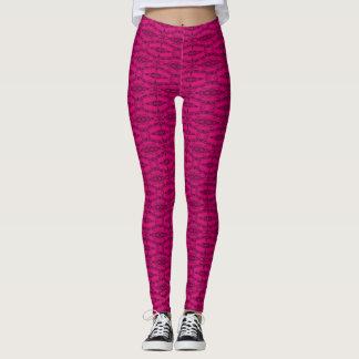 Popular Regal Pink Rave Party Leggings