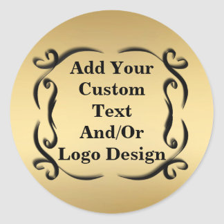 Popular Round Elegant Gold Seal Stickers