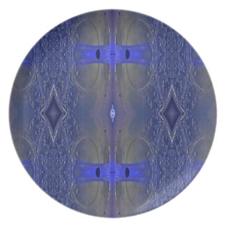 Popular Royal Blue Tribal Pattern Plate