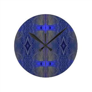 Popular Royal Blue Tribal Pattern Wallclocks