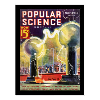 Popular Science Monthly, November 1936_Pulp Art Postcard