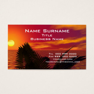 Popular Tropical Business Card
