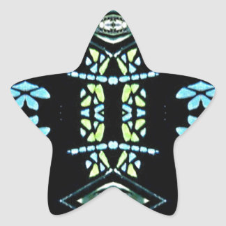 Popular Turquoise Lemon Colors Star Sticker