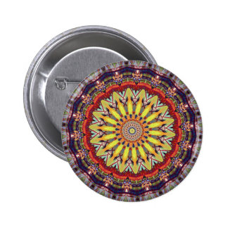 Popular Vibrant Mandala Pattern 2 Inch Round Button