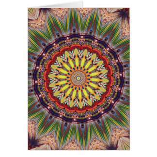 Popular Vibrant Mandala Pattern Card