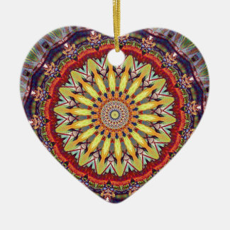 Popular Vibrant Mandala Pattern Ceramic Ornament